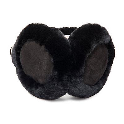 UGG Classic Wired Earmuff Womens Hat, Black, viewer