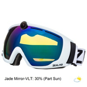 Zeal Optics HD2 Camera Goggles 2016, White Out-Jade Mirror, medium