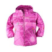 Obermeyer Aurora Toddler Girls Ski Jacket, Pink Nebula Print, medium