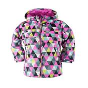 Obermeyer Aurora Toddler Girls Ski Jacket, D Squared Print, medium