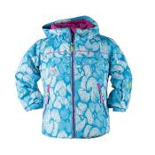 Obermeyer Aurora Toddler Girls Ski Jacket, Ocean Snowflower Print, medium