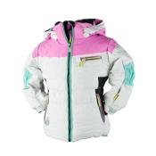 Obermeyer Gaia Toddler Girls Ski Jacket, White, medium