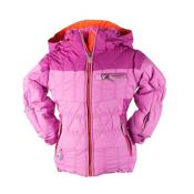 Obermeyer Gaia Toddler Girls Ski Jacket, Neo Pink, medium