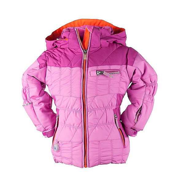 Obermeyer Gaia Toddler Girls Ski Jacket, Neo Pink, 600