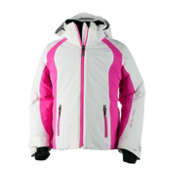 Obermeyer Sami Girls Ski Jacket, White, medium
