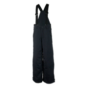 Obermeyer Surface Suspender Husky Kids Ski Pants, Black, medium