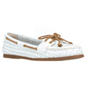 Sperry Audrey Woven Womens Shoes, Woven White, medium