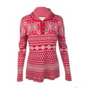 Obermeyer Cabin Pullover Womens Sweater, Crimson, medium