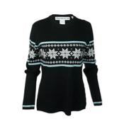 Obermeyer Norway Womens Sweater, Black, medium