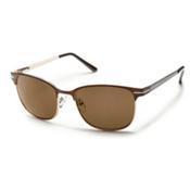 SunCloud Causeway Sunglasses, Brown, medium