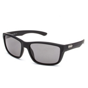 SunCloud Mayor Sunglasses, Matte Black-Gray Polarized, medium