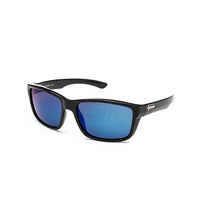SunCloud Mayor Sunglasses, Matte Black-Gray Polarized, viewer
