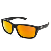 SunCloud Mayor Sunglasses, Matte Black-Red Mirror Polarized, medium