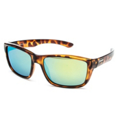 SunCloud Mayor Sunglasses, Tortoise-Green Mirror Polarized, medium