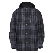 Armada Reading Flannel Hoodie, Charcoal Flannel, medium