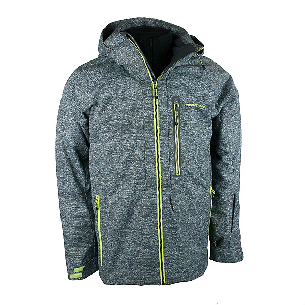 Obermeyer Barley Mens Insulated Ski Jacket, Ebony Heather, 600