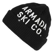 Armada Bloke Beanie Hat, Black, medium