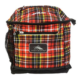 High Sierra Bucket Ski Boot Bag, Punk Plaid-Black, 256