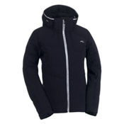 KJUS Savvy Down Womens Insulated Ski Jacket, Black-White, medium