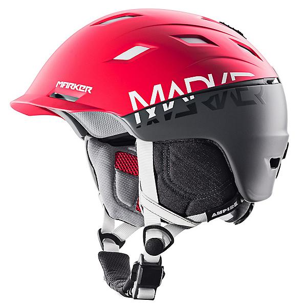 Marker Ampire Helmet 2017, 2 Block Red-Steel Grey, 600