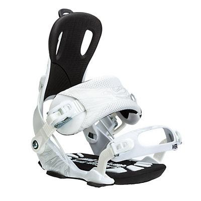 Gnu Weird Snowboard Bindings, White, viewer