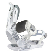 Roxy Rock-It Roll Womens Snowboard Bindings, White, medium