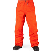 Volcom Carbon Mens Snowboard Pants, Orange, medium