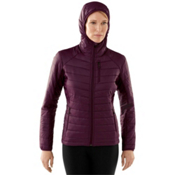 SmartWool PhD SmartLoft Full Zip Womens Hoodie, Aubergine, medium