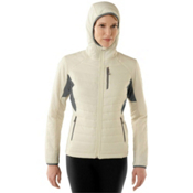 SmartWool PhD SmartLoft Full Zip Womens Hoodie, Natural, medium