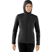 SmartWool PhD SmartLoft Full Zip Womens Hoodie, Black, medium
