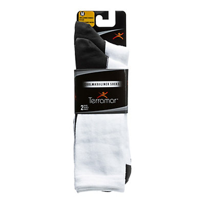 Terramar CoolMax Liner Sock 2 Pack, White, viewer
