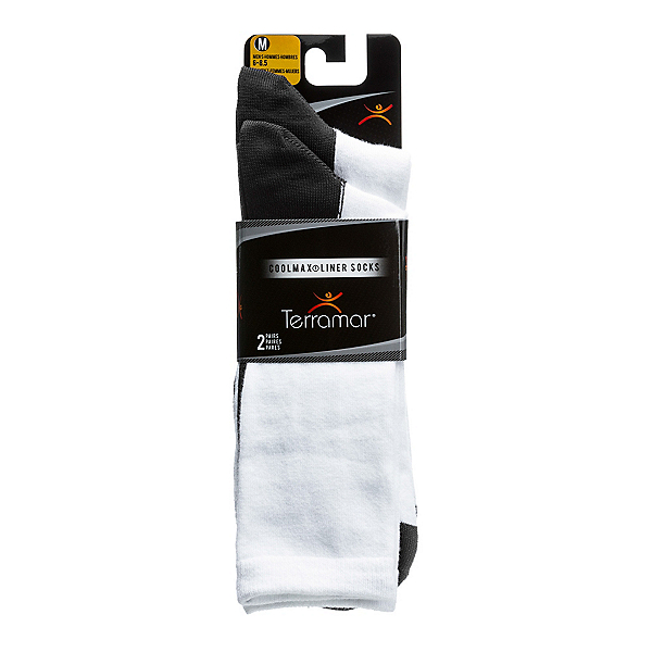 Terramar CoolMax Liner Sock 2 Pack, White, 600