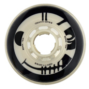 Rink Rat Identity Krysis 76A Inline Hockey Skate Wheels - 4 Pack, Black-White, medium