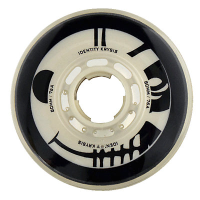 Rink Rat Identity Krysis 76A Inline Hockey Skate Wheels - 4 Pack, Black-White, viewer