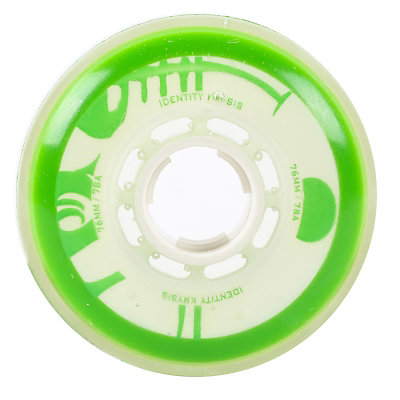 Rink Rat Identity Krysis 78A Inline Hockey Skate Wheels - 4 Pack, Green-White, viewer