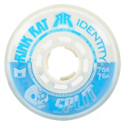 Rink Rat Identity Split 76A Inline Hockey Skate Wheels - 4 Pack, Blue-White, medium