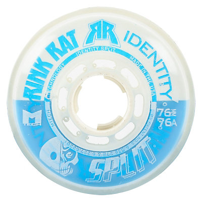 Rink Rat Identity Split 76A Inline Hockey Skate Wheels - 4 Pack, Blue-White, viewer