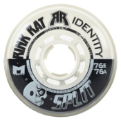 Rink Rat Identity Split 76A Inline Hockey Skate Wheels - 4 Pack 2014, Black-White, medium