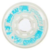 Rink Rat Identity Conflict 78A Inline Hockey Skate Wheels - 4 Pack, White-Blue, medium