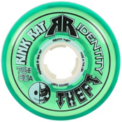 Rink Rat Identity Theft 80A Inline Hockey Skate Wheels - 4 Pack, Green, medium