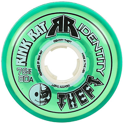 Rink Rat Identity Theft 80A Inline Hockey Skate Wheels - 4 Pack, Green, viewer