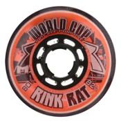 Rink Rat World Cup 82A Inline Hockey Skate Wheels - 4 Pack, Orange-Black, medium
