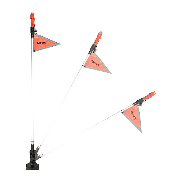 Scotty Sea Light with Reflective Flag - 42in Pole, , 600