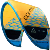 Cabrinha Contra Kiteboarding Kite, Yellow-Blue, medium
