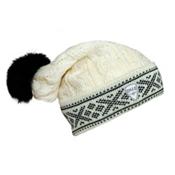 Dale Of Norway Kapp Flora Hat, Off White-Black, medium