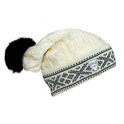 Dale Of Norway Kapp Flora Hat, Off White-Black, viewer