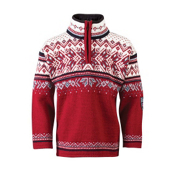 Dale Of Norway Vail Kids Sweater, Red Rose-Midnight Navy-Off Whi, medium