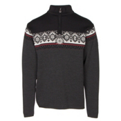 Dale Of Norway St Moritz Masculine Mens Sweater, Dark Charcoal-Raspberry-Black-, medium