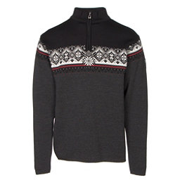 Dale Of Norway St Moritz Masculine Mens Sweater, Dark Charcoal-Raspberry-Black-, 256