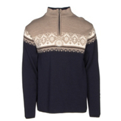 Dale Of Norway St Moritz Masculine Mens Sweater, Navy-Beige-Bronze Melange-Off, medium